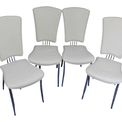 White Dining Chairs Set Of 4 Target Kids Table And Leather Side Chairish
