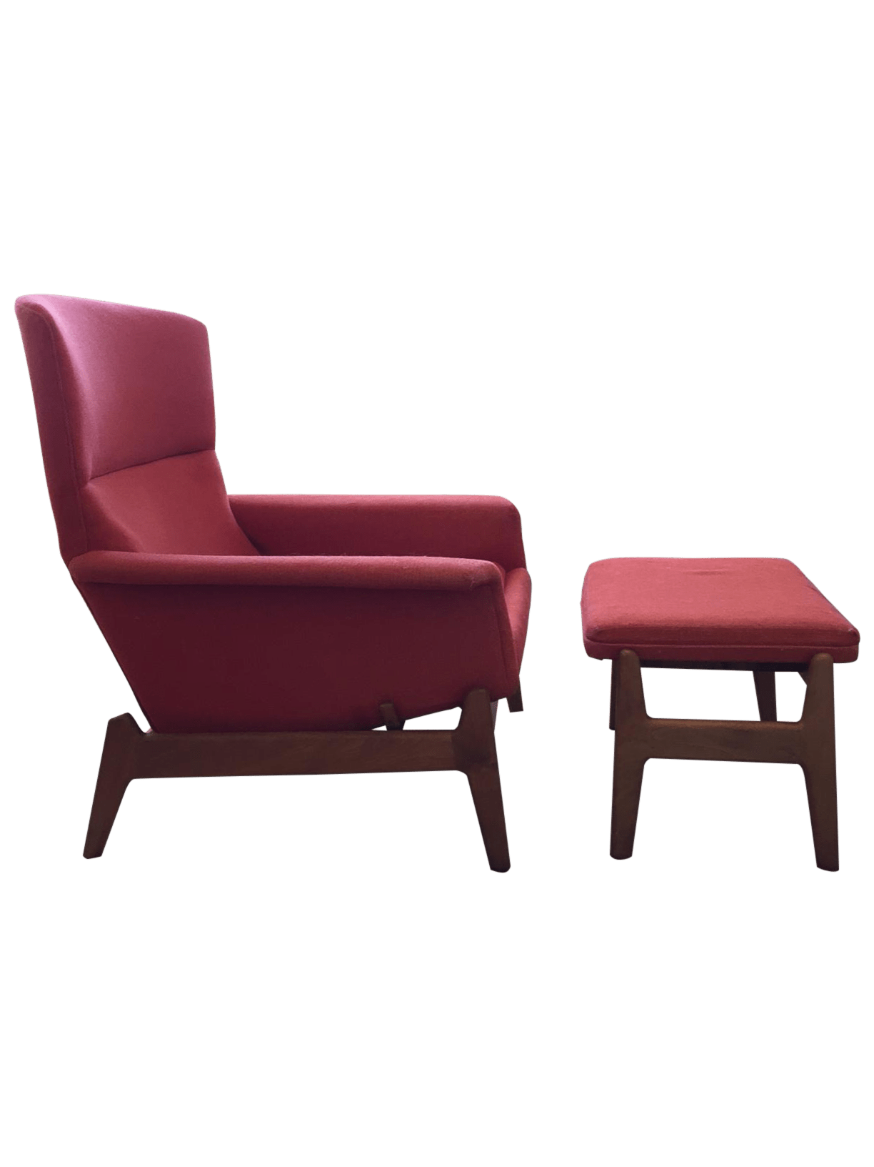Mid Century Chair And Ottoman Dux Mid Century Reclining Lounge Chair And Ottoman Chairish