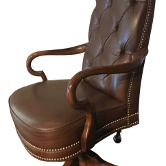 High Back Tufted Chair Cohesion Gaming Deep Glove Leather Studded Office