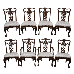Maitland Smith Dining Chairs Chair Design For Study Table Mahogany Set Of 8 Chairish
