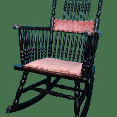 Deer Antler Rocking Chair Folding Plans Antique Victorian Pressed Back And Crushed Velvet