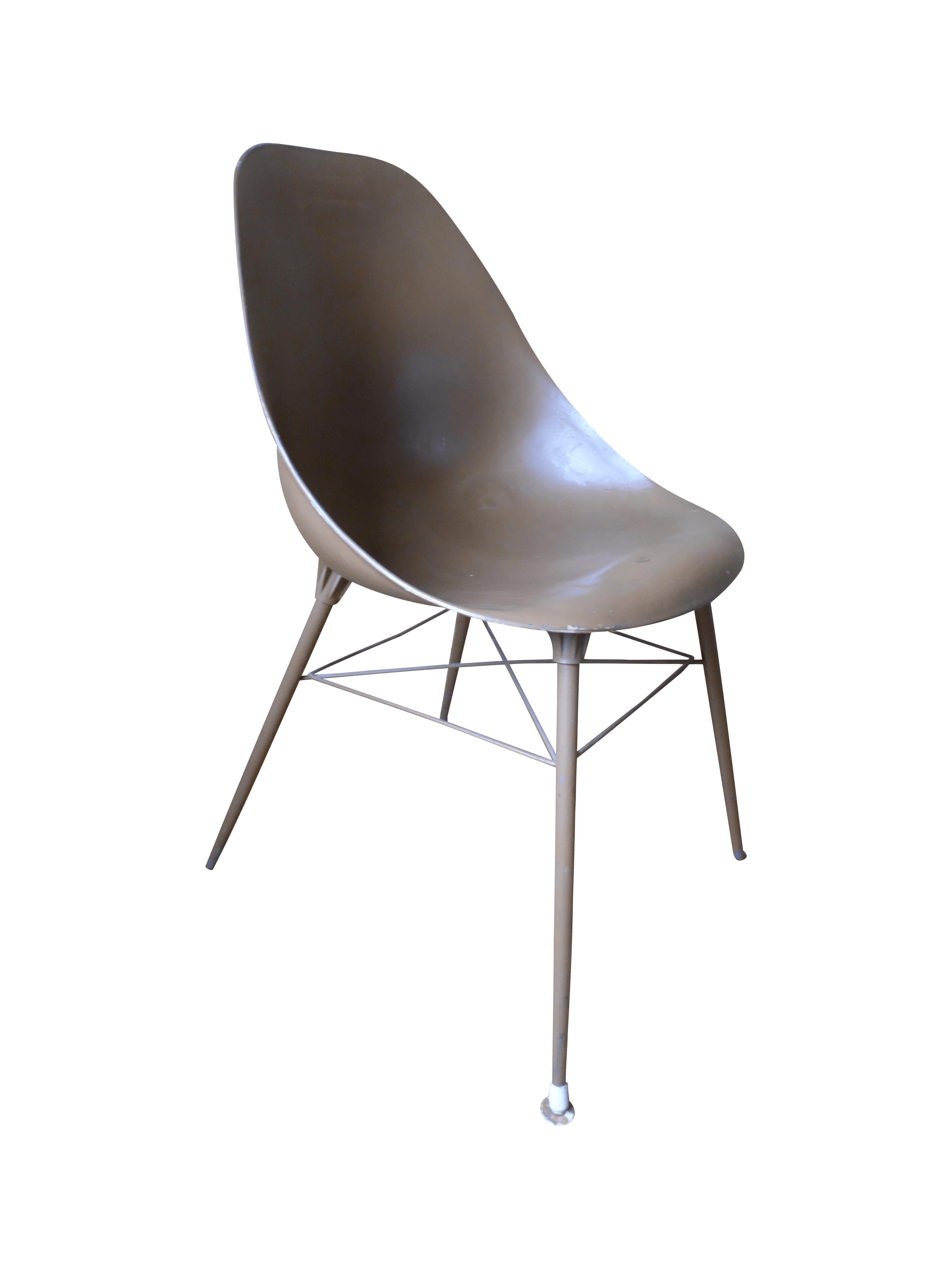 Egg Shell Chairs Eames Style Egg Shell Chair Chairish