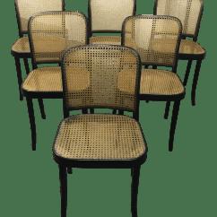 Bentwood Dining Chair Cow Hide Chairs Stendig Thonet Black Prague Set