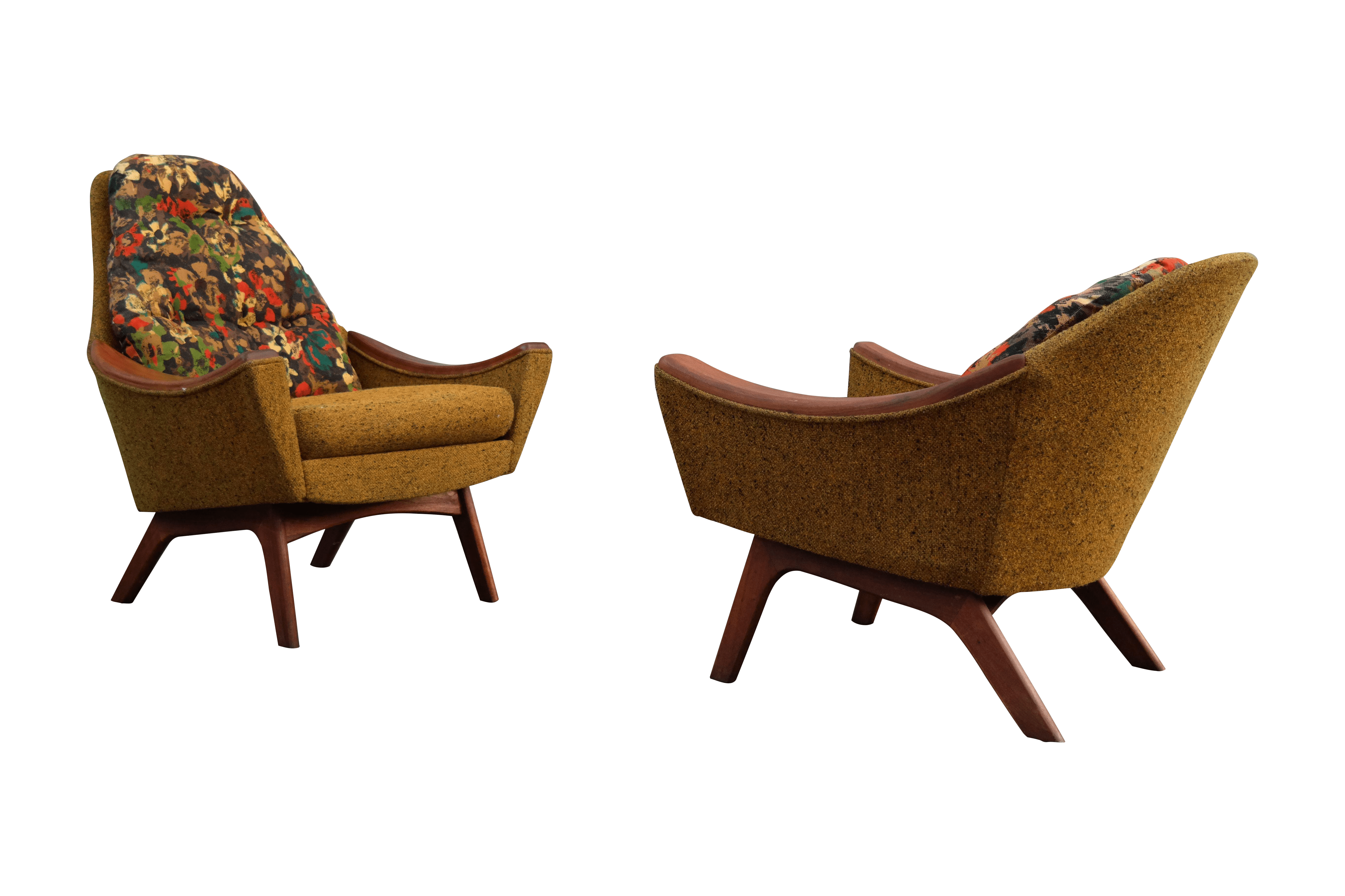 adrian pearsall rocking chair target patio sling folding his and hers lounge chairs - pair   chairish