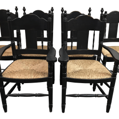 Distressed Black Dining Chairs Mayfair Set Of 6 Chairish