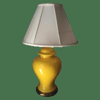 Vintage Yellow Table Lamp | Chairish