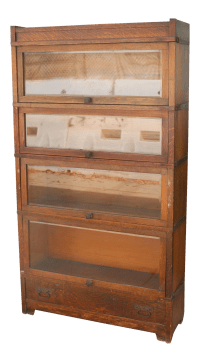 Antique Lawyers Bookcase | Chairish