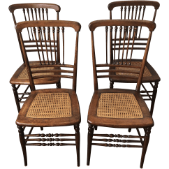 Antique Cane Seat Dining Chairs Queen Anne Ethan Allen Victorian Stick And Ball