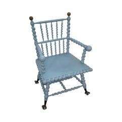 Barley Twist Chair How To Upholster Chairs Blue Antique Arm Merklen Brothers