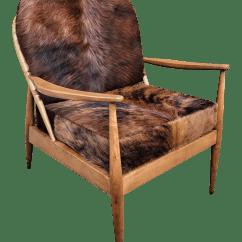 Cowhide Chairs Modern Antique Black Rocking Chair Danish Mid Century Chairish