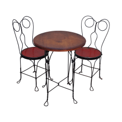 Ice Cream Table And Chairs Alps Camp Chair Antique Parlor Bistro Set Chairish