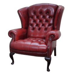 Tufted Leather Wingback Chair Oversized Banquet Covers English Chesterfield Chairish