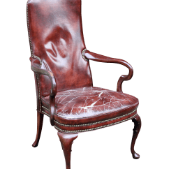 Distressed Leather Desk Chair Mini Electric Burgundy And Mahogany Arm Chairish