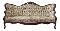 Antique Victorian Camelback Sofa | Chairish