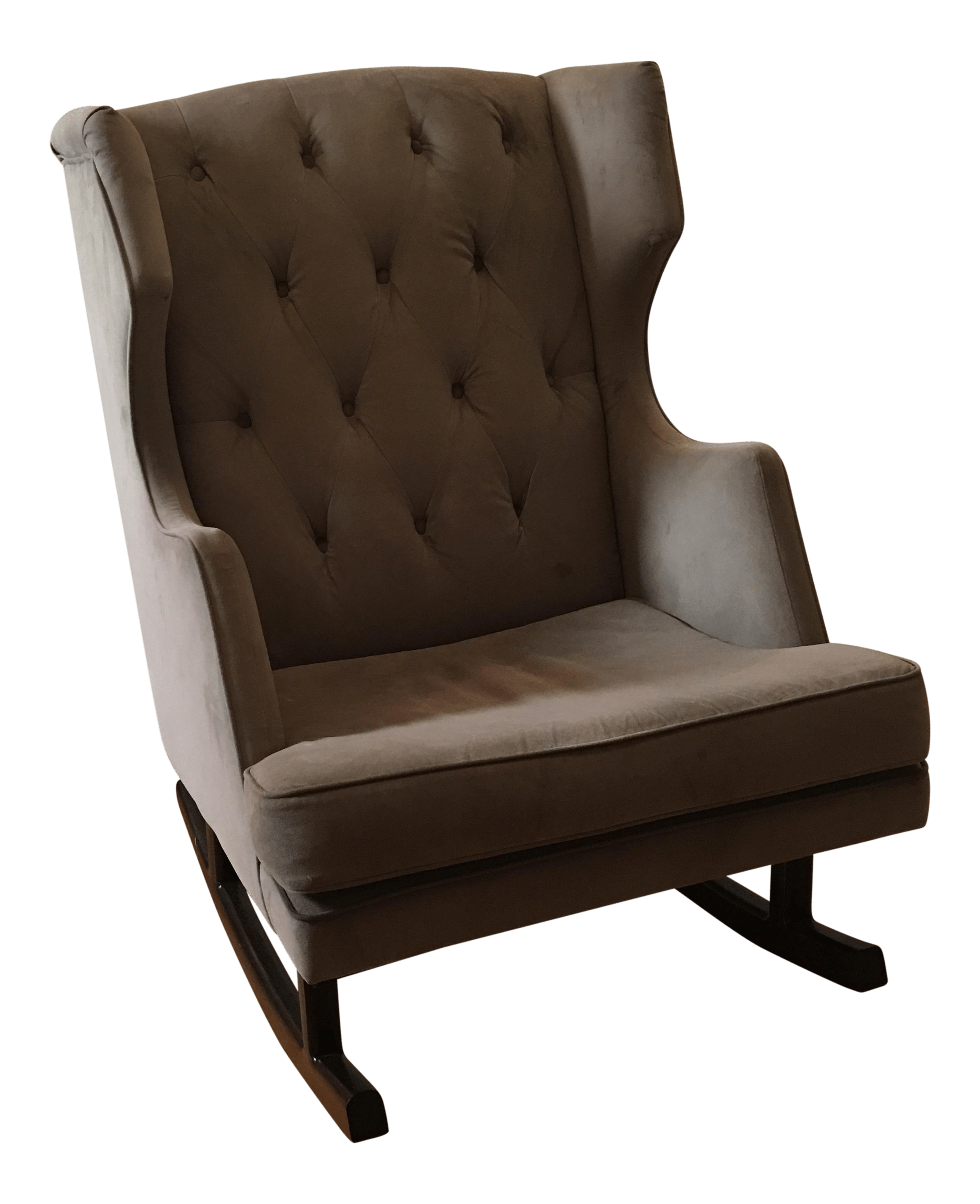 Grey Rocking Chair Gray Oversized Rocking Chair Chairish