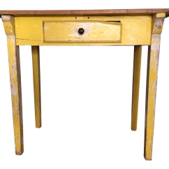 Yellow Sofa Table Blue Decorating Ideas Primitive Console Chairish