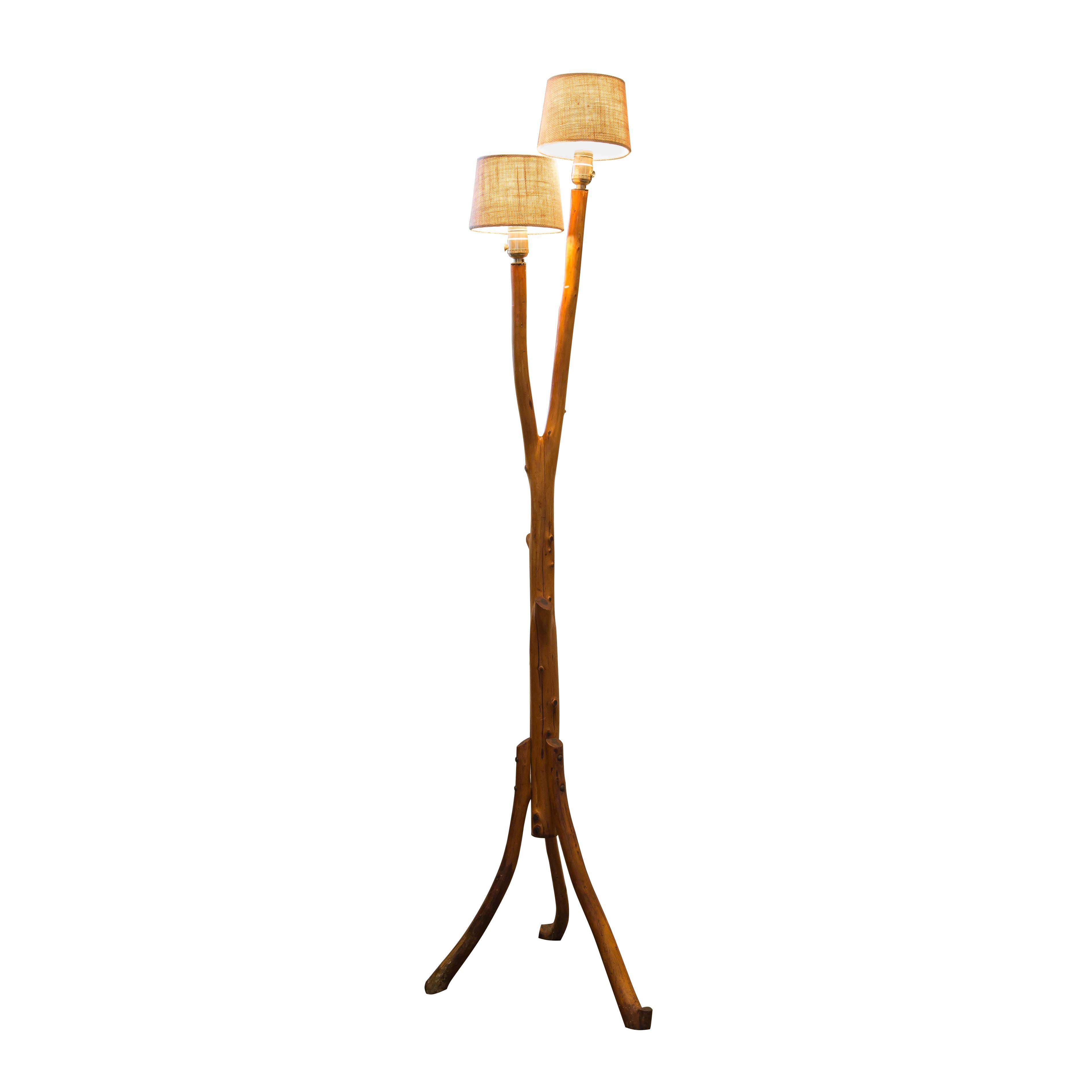 tree branch rocking chair cover hire wakefield vintage folk art floor lamp chairish