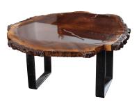 Black Walnut Slab Coffee Table | Chairish