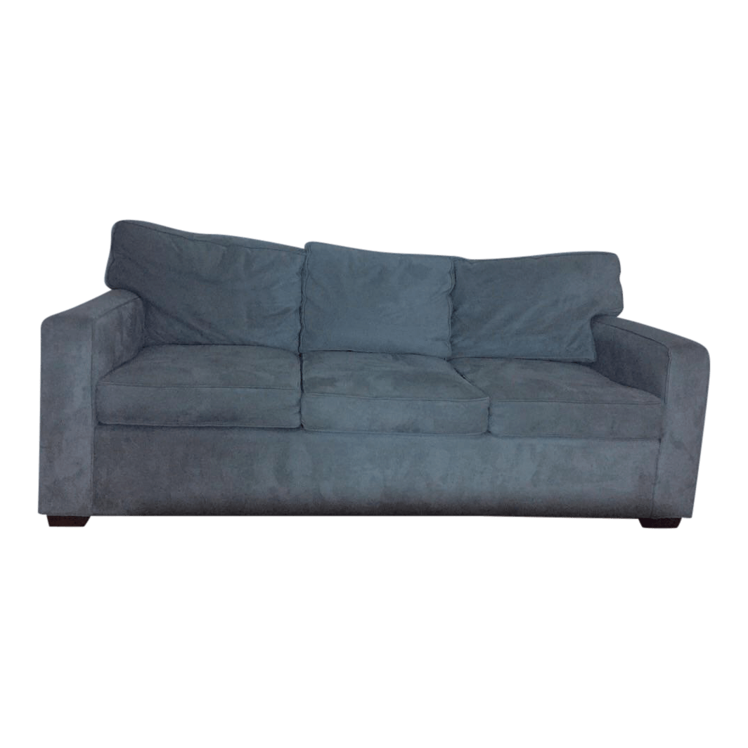 pottery barn seabury sleeper sofa leather restoration sheffield 3 seat metal gray everydaysuede chairish