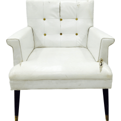 White Tufted Chairs Knee Chair Ikea Vintage Arm Chairish