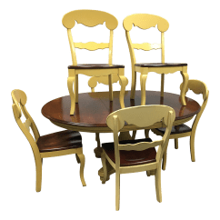 Nichols And Stone Dining Chairs Gold Banquet Chair Covers Table Set Of 7 Chairish