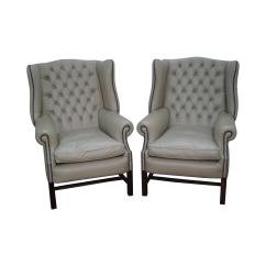 Chippendale Rocking Chair Bedroom Chairs Nz Tufted Leather Chesterfield Style Wing