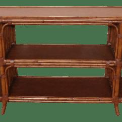 Legare Bamboo Sofa Table Latex Sleeper Ethan Allen Rattan Media Console Chairish