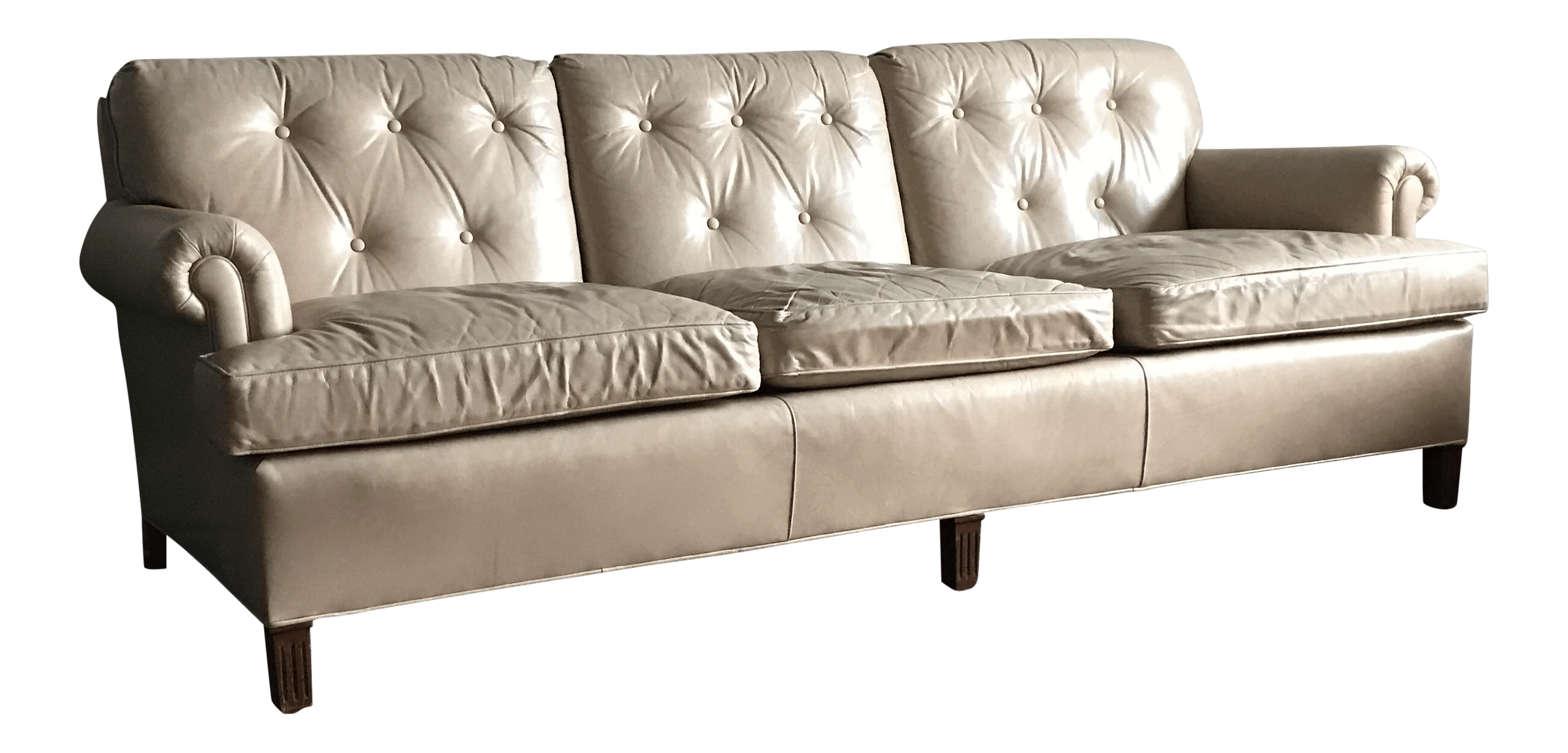 hancock leather sofa beds on gumtree london beige by and moore chairish