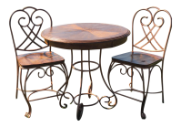 Iron Pub Table & Chairs - Set of 3 | Chairish