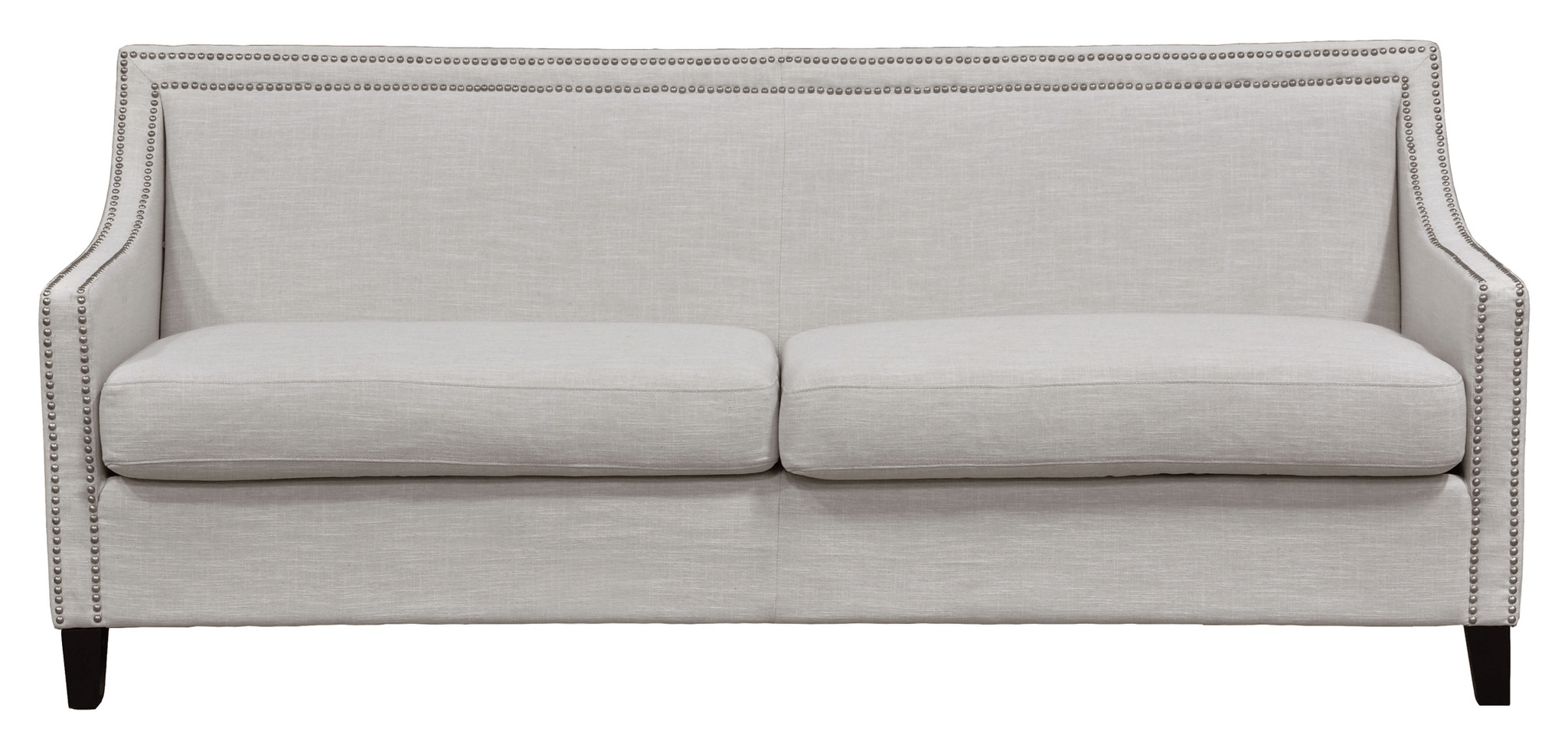 grey carleton nailhead sofa vine retro sectional linen collections rh thesofa