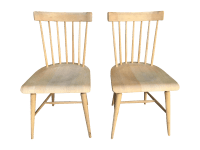 Wooden Spindle Chairs - A Pair | Chairish