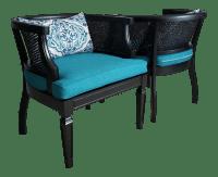 Mid-Century Modern Cane Barrel Chairs - A Pair | Chairish