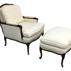 French Bergere Chair And Ottoman Stool Build Style Chairish