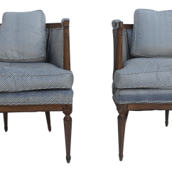 French Barrel Chair Mat Carpet Hollywood Regency Cane Back Accent Chairs