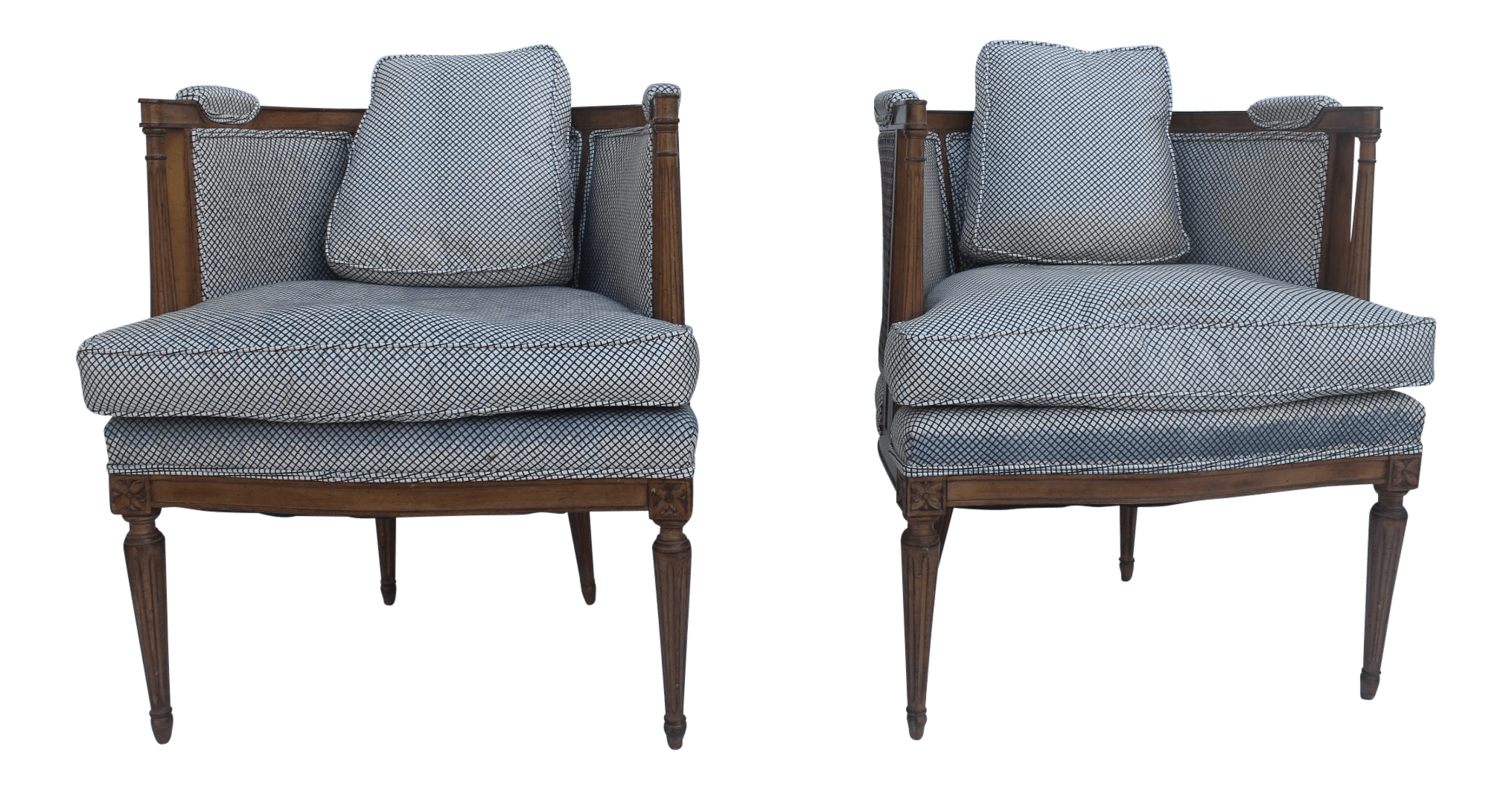 cane barrel chair round back living room chairs french hollywood regency accent