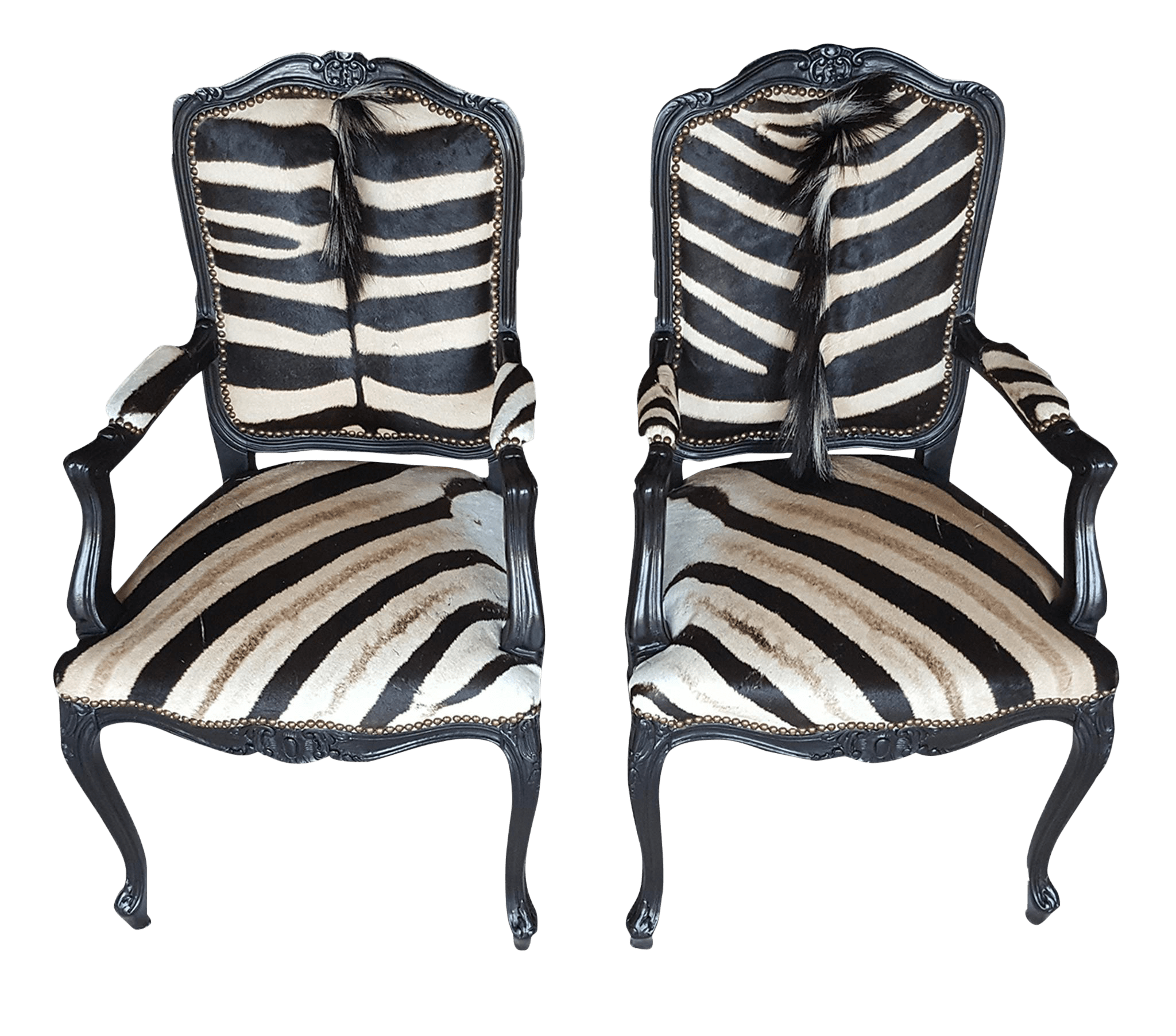 Zebra Accent Chair Zebra Hide Accent Chairs A Pair Chairish