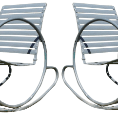 Metal Rocking Chair Runners Lorell Executive Art Deco Patio Hoop Chairs A Pair Chairish