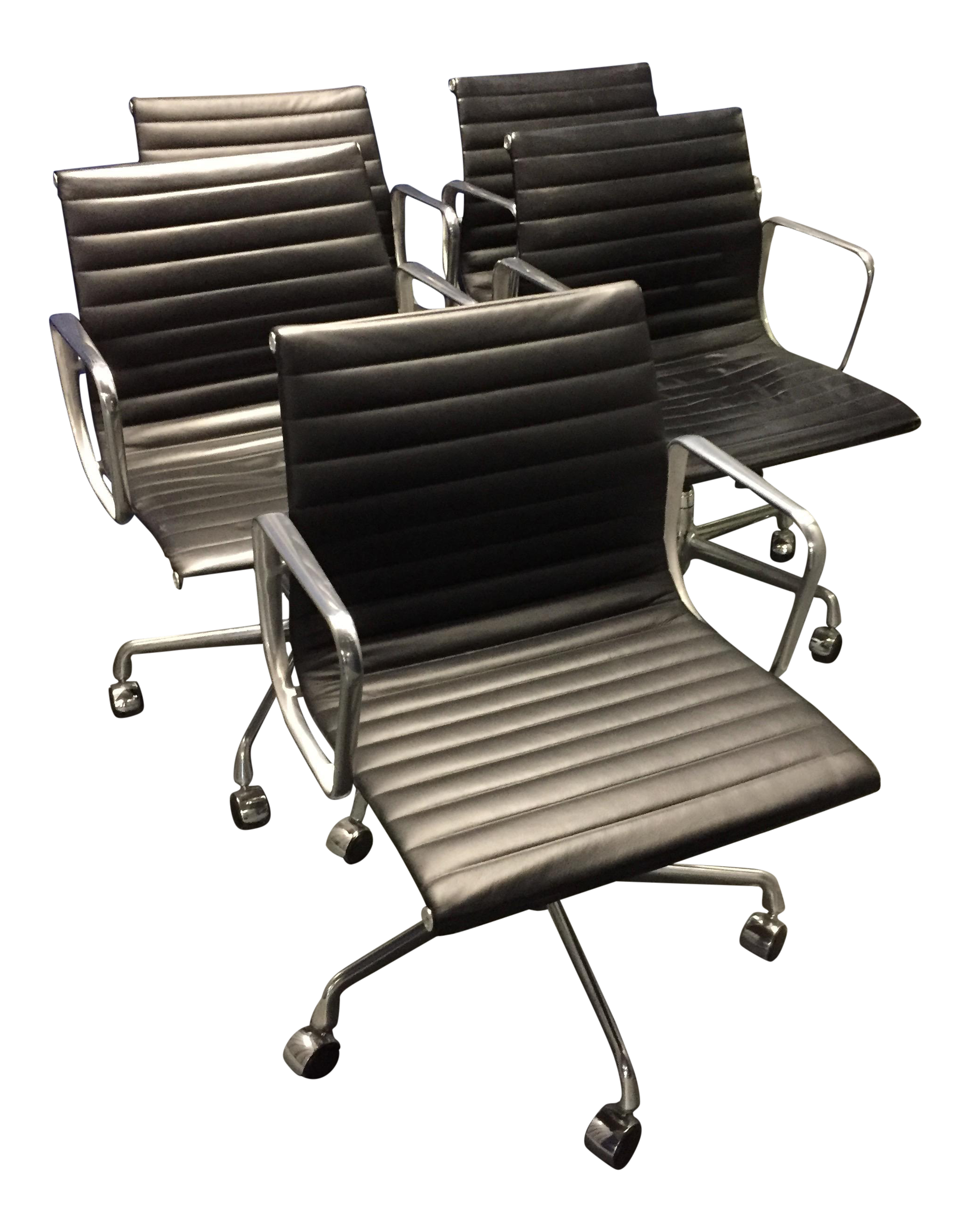 eames aluminum group management chair ozark trail chairs set of 5 chairish