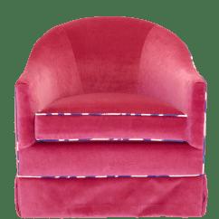Pink Swivel Chair Adult Baby High Taylor Burke Home Mid Century Modrn Velvet