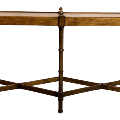 Legare Bamboo Sofa Table Set With Images Faux Console By Brandt Chairish