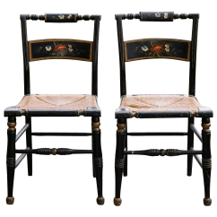 Early American Chair Styles Plastic Table And Sets For Toddlers Antique Hitchcock Style Stenciled Wood