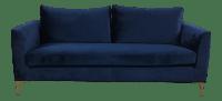 Modern Royal Velvet Navy Blue Sofa | Chairish