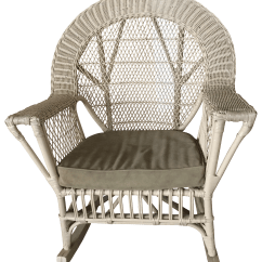 Design Within Reach Rocking Chair Hire Of Wedding Covers Vintage Wicker Chairish
