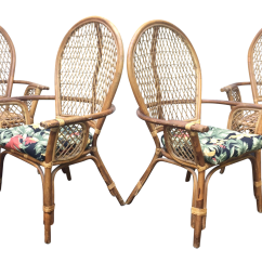 Antique High Back Wicker Chairs Gravity Chair Target Vintage Modern Bamboo And Rattan Chairish