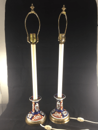Frederick Cooper Imari Style Porcelain Candlestick Table ...