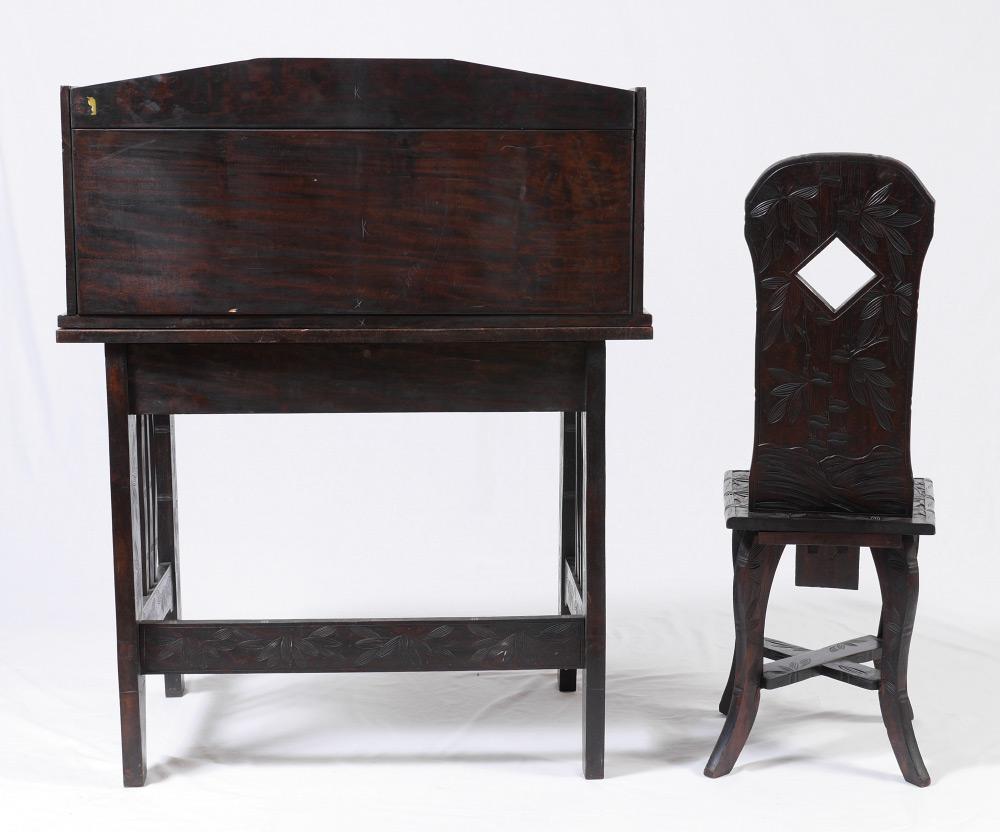 Oriental Writing Desk  Chair  Chairish