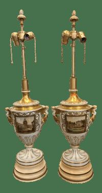 Antique Dresden German Porcelain Lamps - Carl Thieme ...