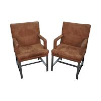 Milo Baughman Mid-Century Chrome Chairs - A Pair   Chairish