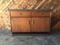 Mid Century Transforming Cocktail Bar Cabinet | Chairish