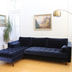 Abbie Sofa Navy Red Leather Sofas For Sale Left Facing Sectional Design Inspiration Creative